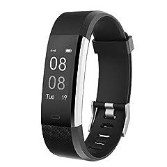 Idea Regalo - YAMAY Smartwatch Braccialetto Fitness Activity Tracker Smart Watch Android iOS Orologio Cardiofrequenzimetro da Polso Contapassi Calorie Notifiche Sport Donna Uomo Bambini per Samsung Xiaomi Huawei