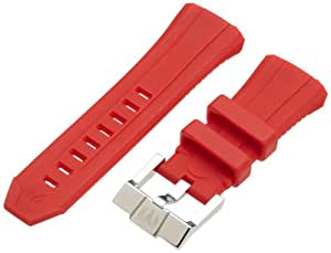 TechnoMarine S1451805 45Mm Red 1805C Silicon Strap Stainless Steel Buckle