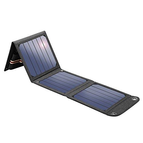 Suaoki 14W Cargador Panel Solar Placa Solar Plegable para Smartphones y Dispositivos Electrónicos con USB