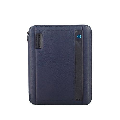 Piquadro Pulse Portablocco, Pelle, Blu, 34 cm