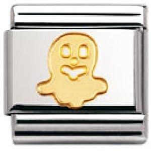 Nomination Composable Classic Fun Edelstahl und 18K-Gold (Geist) 030110