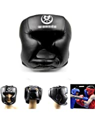 Estone Black New Good Headgear Head Guard Trainning Helmet Kick Boxing Pretection Gear by Estone
