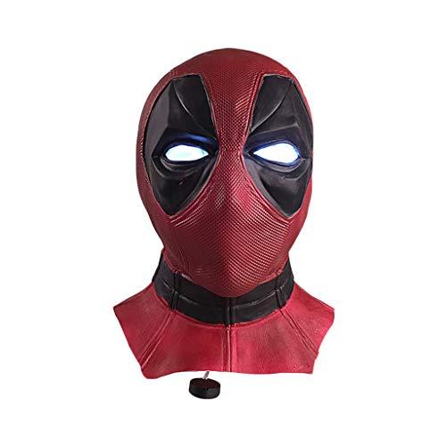 GanSouy Deadpool Maske, Deadpool Maske männer Kostüm, Film DP Cosplay Kostüm Replik Maske Kopf Cosplay Maske, Halloween Maske Kopf Mit ()