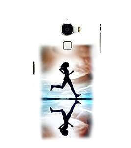 Fuson Premium Running Girl Printed Hard Plastic Back Case Cover for LeEco Le Max