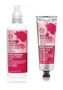 Crème Rose Hand Wash 250ml + Wild Wild Rose main avec huile de rose musquée et SPF 15 100ml pour les mains d'âge mûr