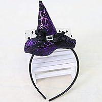 Ironheel Bruja de Navidad Cabeza Hebilla Accesorios de Halloween Colorido Sombrero de Bruja Diadema Traje de Moda Vestir Accesorios para Fiesta