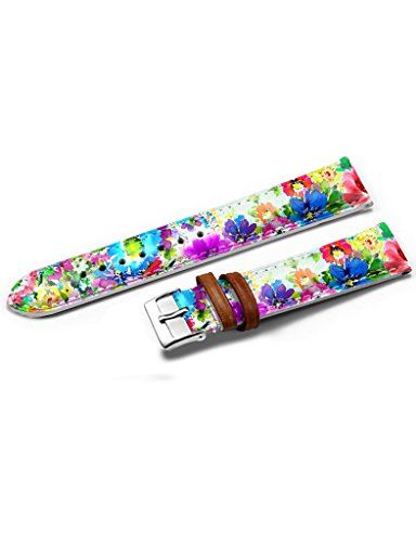 extra-long-watch-strap-band-black-leather-stainless-steel-buckle-14mm-elegant-color-flowers