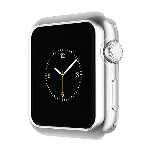 Apple Watch Funda Series 2 HOCO Pinhen Funda Protector de Pantalla de Metálico Ligero para Apple Watch Series 2 (42MM Case Silver)