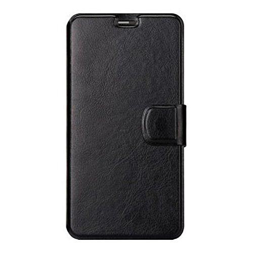 Gionee S6s,Taslar(TM) Vintage Style Leather Wallet Magnetic Clip Stand Flip Back Cover Case For Gionee S6s – Black