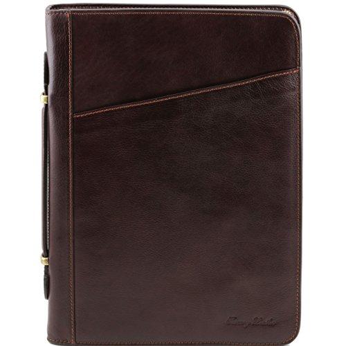 Tuscany Leather Claudio - Esclusivo portadocumenti in pelle con manico Testa di Moro Portadocumenti in pelle Testa di Moro