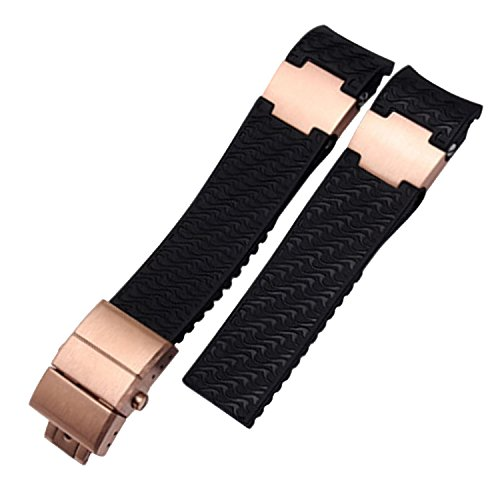 22mm-curved-end-rubber-diver-watch-strap-band-for-ulysse-nardin-rose-gold-clasp