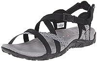 Merrell Terran Lattice, Women's Velcro Sandals - Black, 5 UK