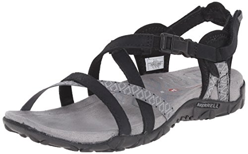 Merrell TERRAN LATTICE II, Damen Sandalen, Schwarz (BLACK), 41 EU (8 UK)
