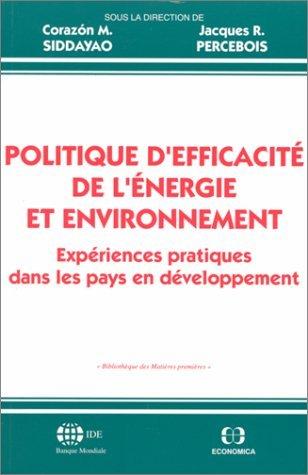 Politique d'efficacit de l'nergie et environnement