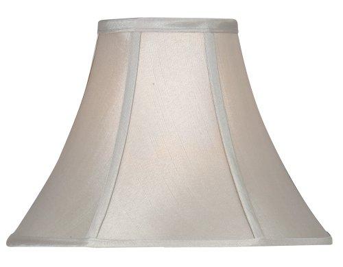 Oaks Lighting Empire - Tulipa para lámpara (seda sintética, 50,8 cm, estructura no incluida), color gris