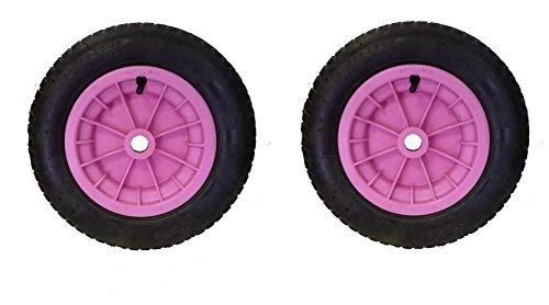 Dtkh Reifen für Schubkarren, 35,6 cm (14 Zoll), Rosa, 2 Stück -