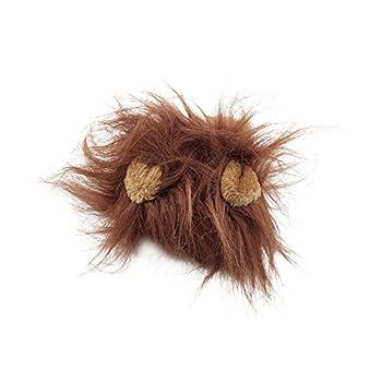 Belle perruque Lions Mane Costume Pet pour chat Halloween Halloween Party Dress Up avec l'oreille Pet Vêtements Cat Déguisements