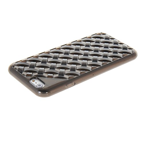 MOONCASE TPU Silicone Housse Coque Etui Gel Case Cover Pour Apple iPhone 6 ( 4.7 inch ) Rouge Gris