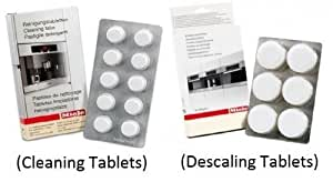 Miele Coffee Machine Cleaning Tablets (10pk) & Descaling Tablets (6pk) by Miele