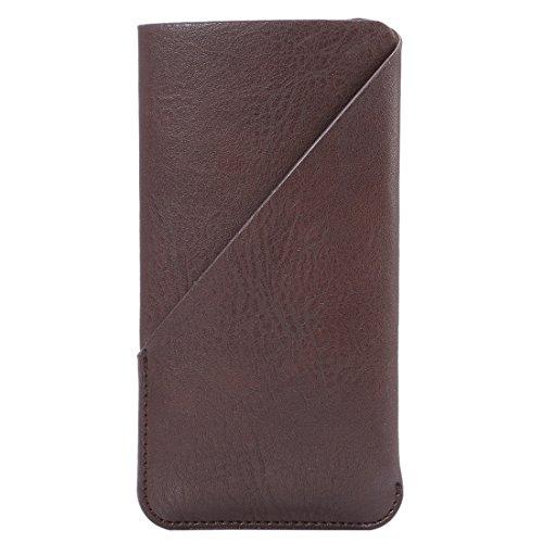 Phone Case Coque cover, Pour iPhone 6 / 6s, Samsung Galaxy S4 / S3, Huawei, 4,8 pouces en tissu élastique universel pour la peau, sac en tissu de style vertical avec une fente pour carte ( Color : Bla Brown