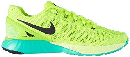 Nike  Lunarglide 6, Running homme Jaune (volt/black-flash Lime-lqd Lime 701)