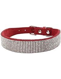 Collares Ajustables para Mascotas, ♥ ♥ Zolimx Collar para Mascotas con Diamantes de imitación para Perros y Gatos, Accesorios de…
