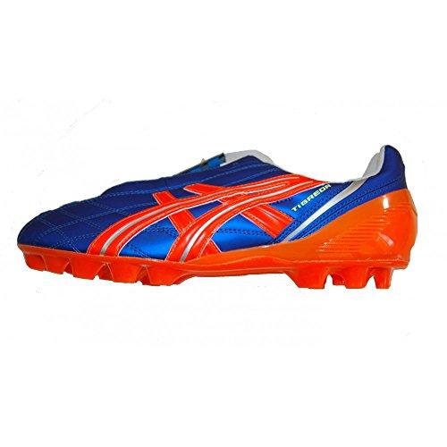 Asics , Chaussures de foot pour homme MARINE BLUE/FLASH ORANGE/SILVER bleu ciel