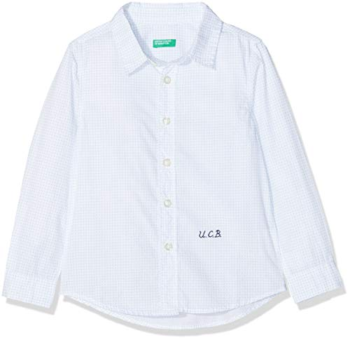 United Colors of Benetton Shirt Camicia Bambino Grigio/Nero 128