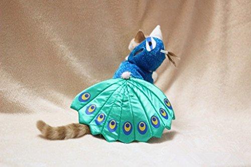 Imagen de kailian® puppry de mascota perro gato cosplay disfraz de pavo real ajustable sombrero y capa alternativa