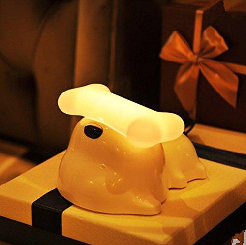 HHORD (5w) Touch Charger Creative Puppy Tischlampe Schlafzimmer Schlafzimmer Brust Nacht Licht führte Nachtlicht Mini Licht (Kuppel Brust)
