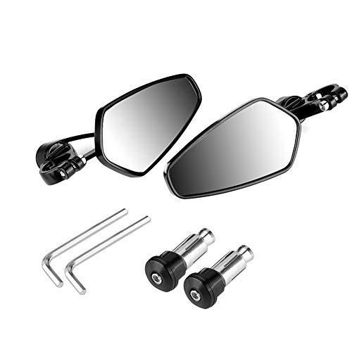 Vobor Motorrad Rückspiegel-22mm Motorrad Rückspiegel Rückspiegel Seitenspiegel CNC Kompatibel mit Honda GROM MSX125 CB50 (Honda Zubehör Grom)