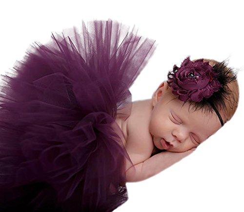 Happy Cherry Neugeborenes Baby Foto Kostüm (Rock + Stirnband) Bekleidungsset Kostüm für Baby Mädchen Baby Rock Tutu Kleidung Prop Outfits Bekleidung Set Für 3-4 Monate - (Pfau Infant Kostüme)