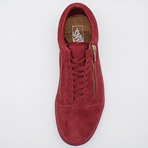 Vans  Old Skool Zip, Chaussures de skateboard pour homme rouge W&B red dahlia W&B red dahlia