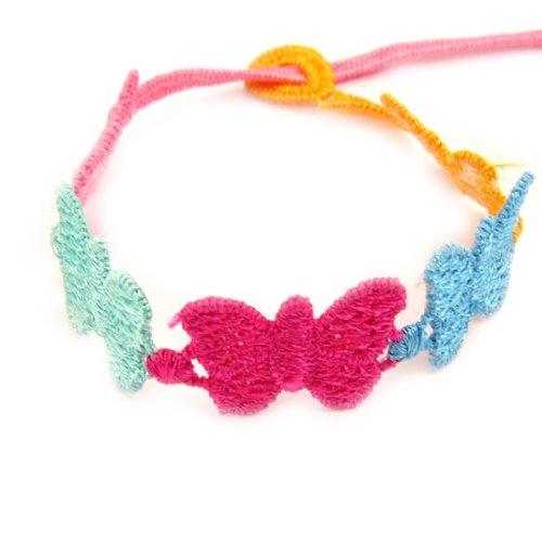 Les Trésors De Lily [L4456] - Stoff band 'Papillon' tutti frutti. -