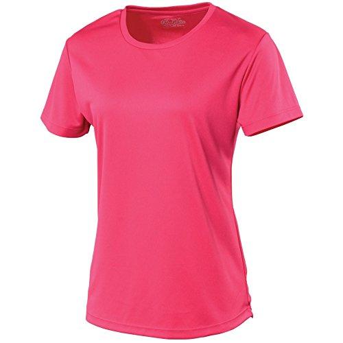 AWDis Femmes Just Cool De course Respirable T Shirt Rosa acceso