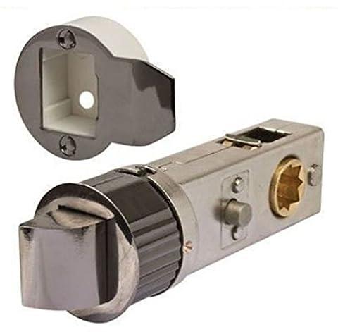 Schwarz Nickel Designer Tubular Einsteckschloss Tür Smart Verriegelung Privatsphäre Verriegelung (Türdrücker Latch)