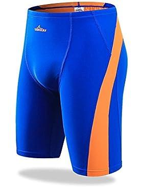 iiinnine Hombres Cómodo Cuadrilátero Troncos de natación Pantalones de playa Pantalones de aguas termales, navy...