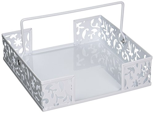 Design Ideas Vinea Napkin Basket, White