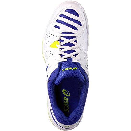 ASICS Gel-dedicate 4 - Scarpe da Tennis Uomo, Bianco (white/asics Blue/lime 0143), 44 EU Navy blue