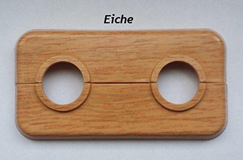 Fux Doppelrosette für Rohraußendurchmesser 15 mm Lochabstand 50mm, Eiche Dekor