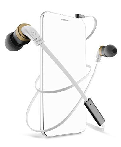 Cellular Line APMOSQUITO2 In-Ear-Kopfhörer mit Adapter für Nokia/Samsung/Sony Ericsson (3,5mm Klinkenzugang) für Handy und Smartphone weiß Ericsson Handy Adapter