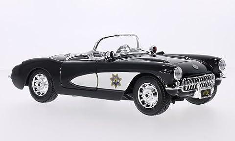 Chevrolet Corvette (C1), State autoroute Patrol, 1957, voiture miniature, Miniature déjà montée, Maisto