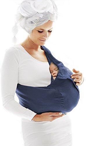 Wallaboo Porte bébé Connection Ergonomique de la naissance à 36 mois  Le porte-bébé sling à poche pratique et facile à installer Bleu