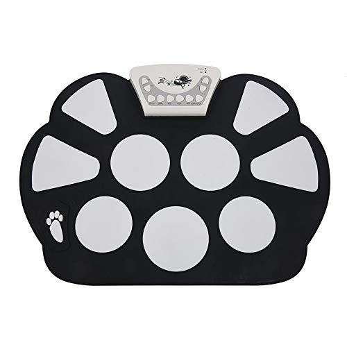 SISHUINIANHUA Digitales tragbares 9 Pad Musikinstrument für elektronische Roll-up-Trommel-Ausrüstung