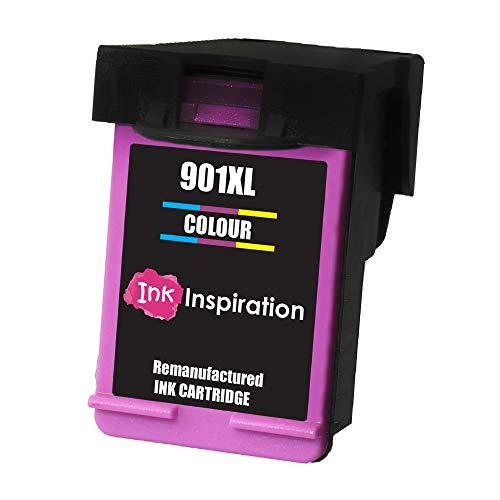 Tricolore INK INSPIRATION Cartuccia d'Inchiostro Rigenerata Sostituzione per HP 901 901XL OfficeJet 4500 G510a G510g G510n J4500 J4524 J4535 J4540 J4550 J4580 J4585 J4600 J4624 J4640 J4660 J4680