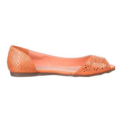Ital-Design Scarpe per il Tempo Libero Donna, Arancione (Arancione), 40