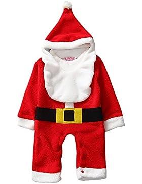 Happy Cherry - 2016 Nuevo Romper de Santa Traje de Mono con Sombrero Disfraz para Navidad Año Nuevo de Bebés Unisex...