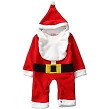 happy cherry nuevo romper de santa traje de mono con sombrero disfraz para navidad