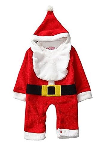 Bébé Père Noël Chapeaux - Happy Cherry Ensemble 3Pcs Pyjama/Grenouillère pour Bébé
