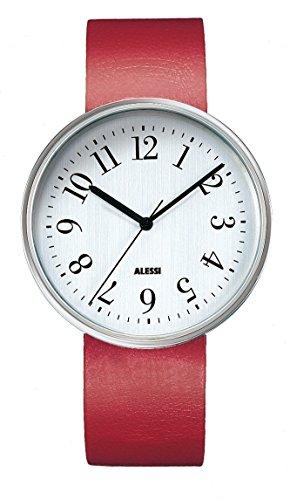 Alessi - AL6004 - Montre Mixte - Automatique - Analogique - Bracelet Cuir Rouge